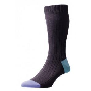 Pantherella sokken - donkergrijs contrast