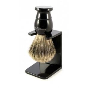 Edwin Jagger best badger scheerkwast met scheerkwasthouder - zwart XL