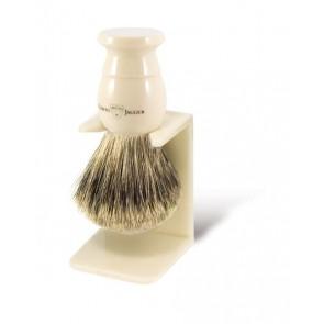 Edwin Jagger best badger scheerkwast met scheerkwasthouder - ivoorkleurig XL