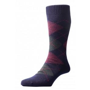 Pantherella sokken - Argayle navy