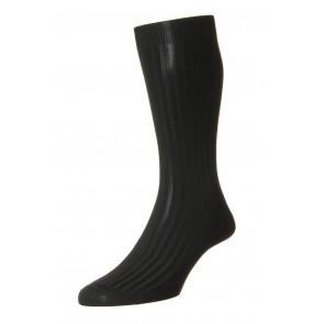 Pantherella sokken - Rib zwart
