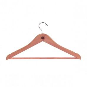 Cederhouten kledinghangers, 10 stuks