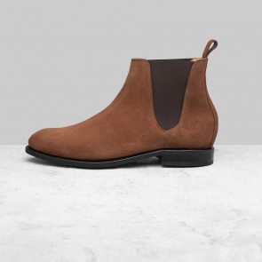 Peter & Porter - suède Chelsea boot camel