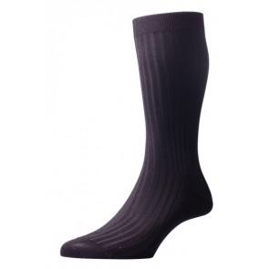 Pantherella sokken - Rib donkergrijs
