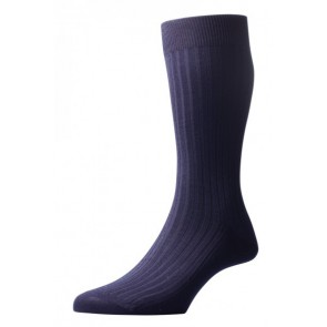 Pantherella sokken - Rib navy