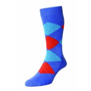 Pantherella sokken - Blue Surf