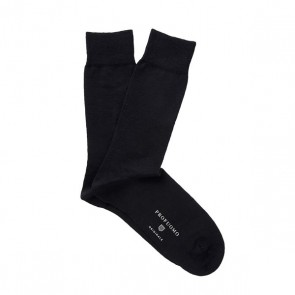 Profuomo wol & katoen sokken - zwart