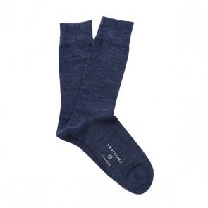 Profuomo wol & katoen sokken - blauw