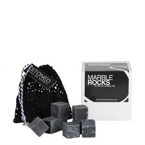 Stoned marmeren koelstenen - zwart