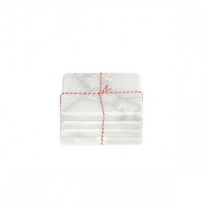 Stoned witmarmeren onderzetter vierkant